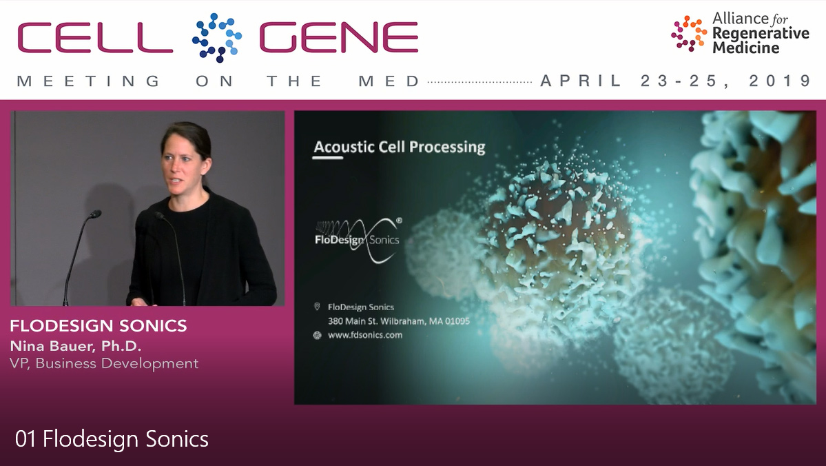 FloDesign Sonics Presents at Alliance for Regenerative Medicine - Meeting on the Med